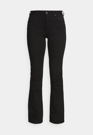 BREESE - Bootcut jeans - black rinse