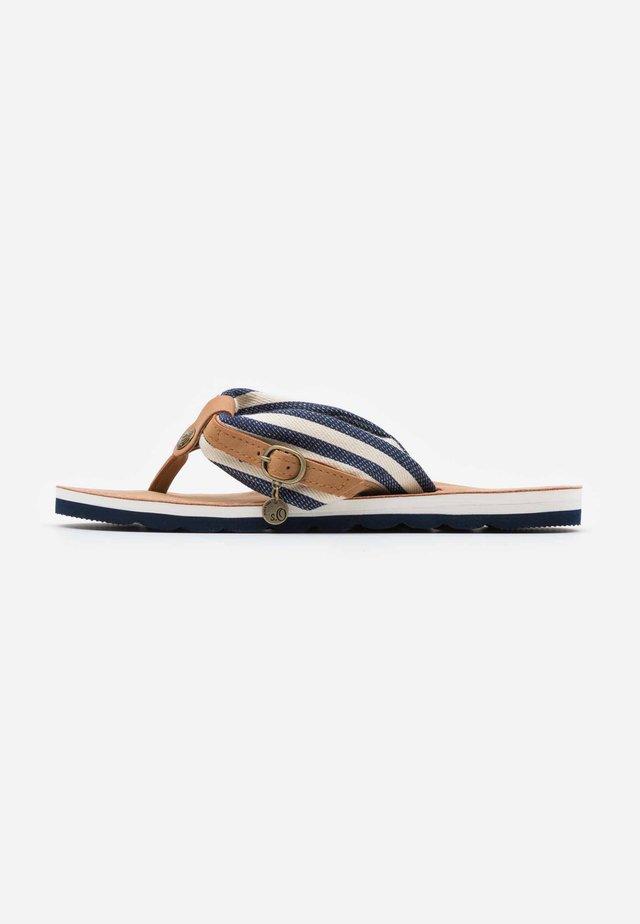 SLIDES - Sandály s odděleným palcem - navy
