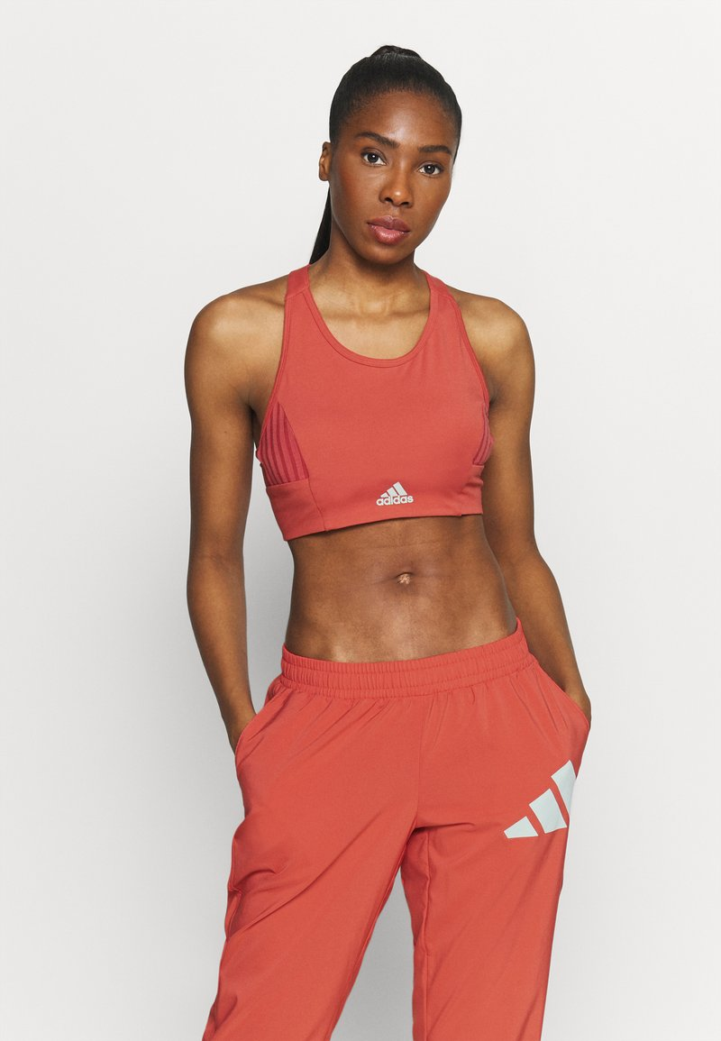 adidas Performance - Light support sports bra - crew red