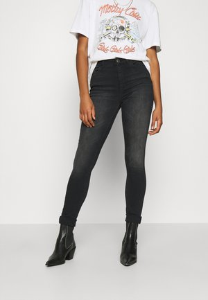 ONLBLUSH HIGH WAIST - Jeans Skinny - black denim
