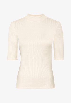 MIT HALBÄRMELN - Basic T-shirt - crème