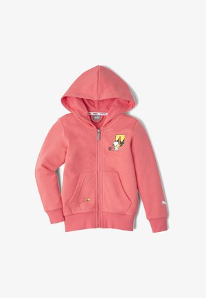 Zip-up hoodie - sun kissed coral