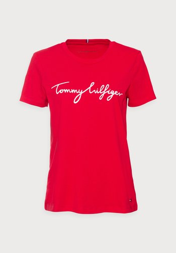REGULAR GRAPHIC TEE - T-shirts med print - red