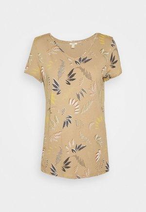 LEAF TEE - Print T-shirt - beige