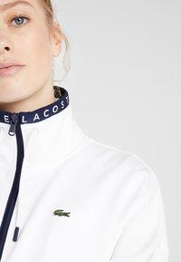Lacoste Sport - TENNIS JACKET - Veste de survêtement - white/navy blue - 3