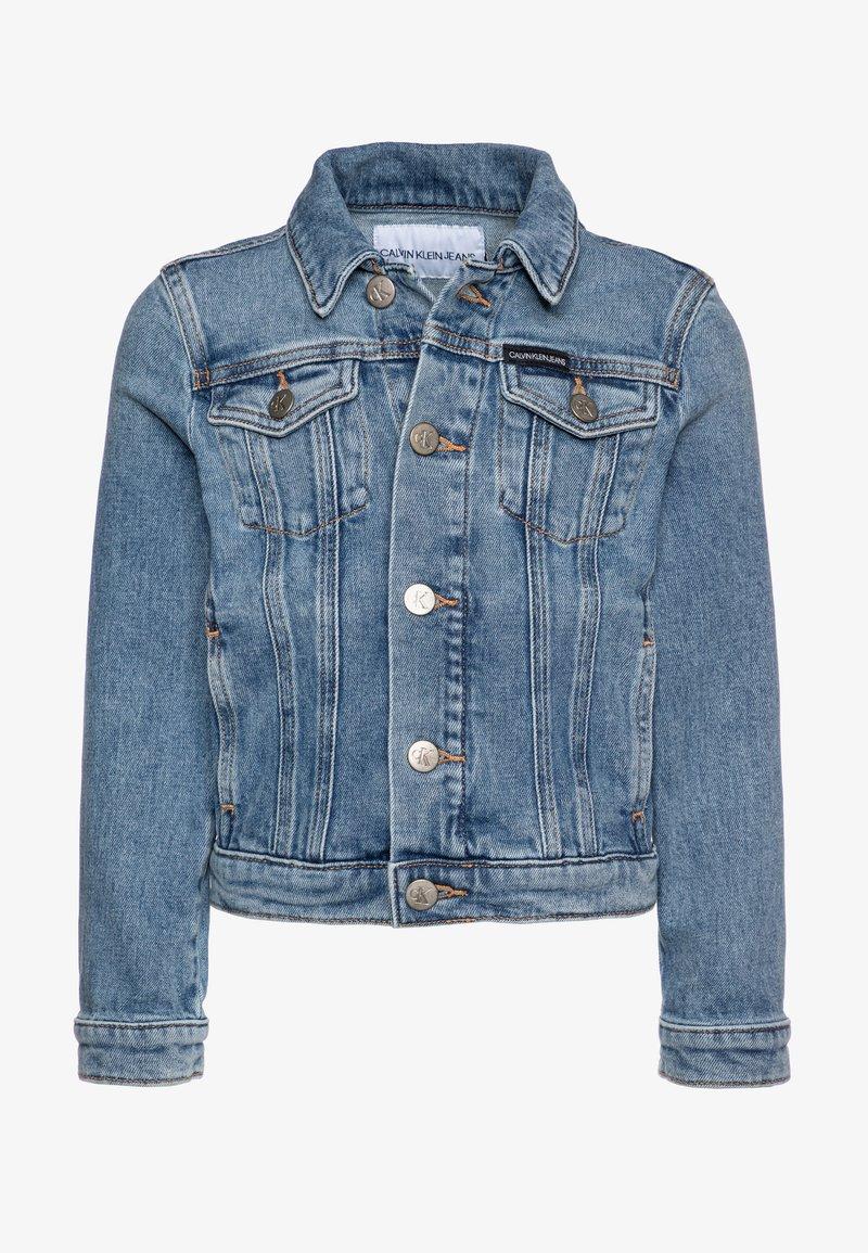 Calvin Klein Jeans - GIRLS TRUCKER  - Džínová bunda - blue denim
