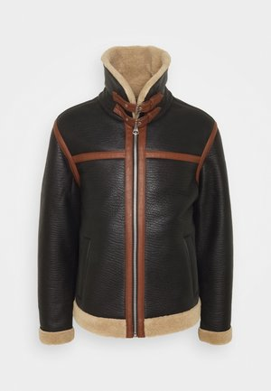 JOREAGLE JACKET - Faux leather jacket - dark earth