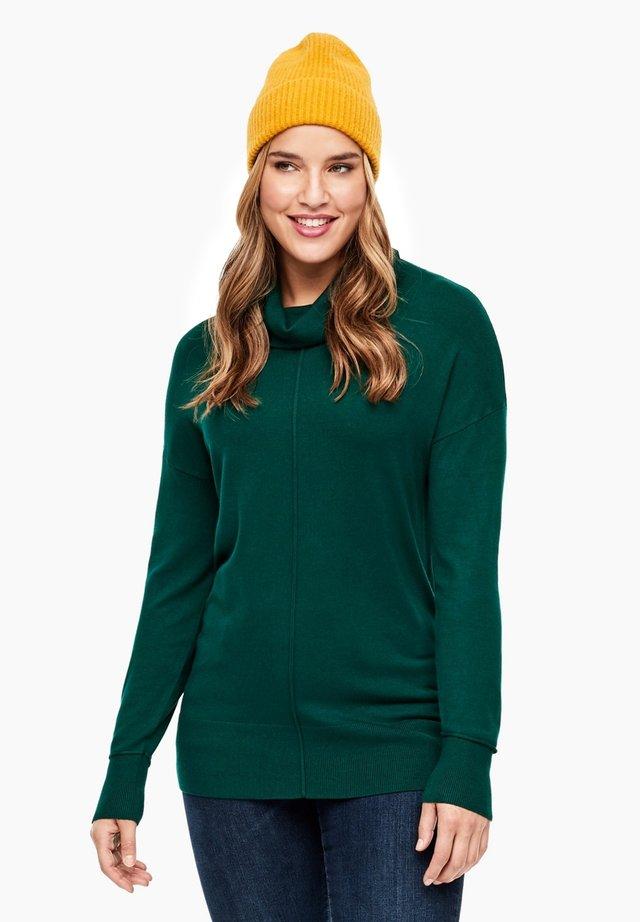 MIT ROLLKRAGEN - Jumper - emerald