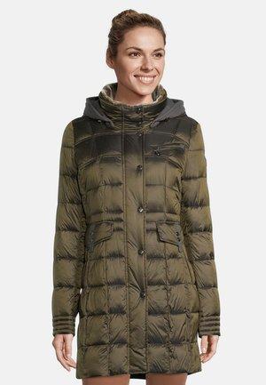 MIT ABNEHMBARER KAPUZE - Winter coat - dark khaki