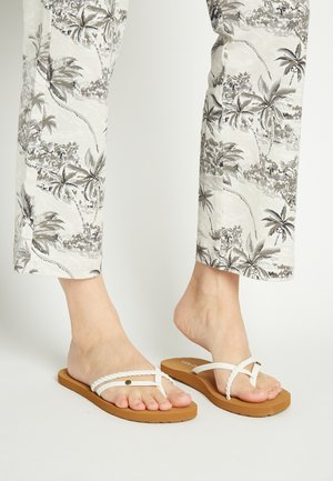 THRILLS II - T-bar sandals - white