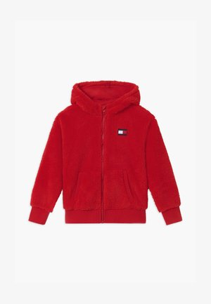 HOODED FULL-ZIP UNISEX - Forro polar - red