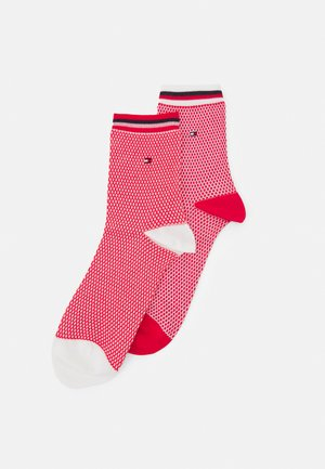 WOMEN SHORT SOCK COLLEGIATE HONEYCOMBI 2 PACK - Socks - red