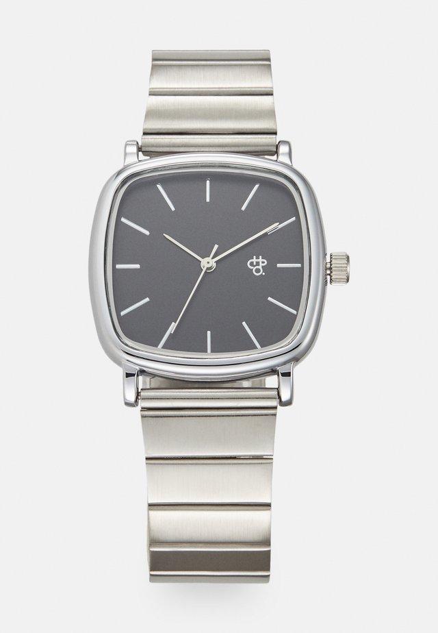 NANDO  - Hodinky - black/silver-coloured