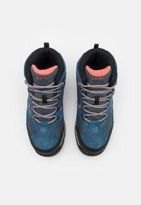 Hi-Tec - STORM WP WOMENS - Hiking shoes - blue/light blue/coral - 3