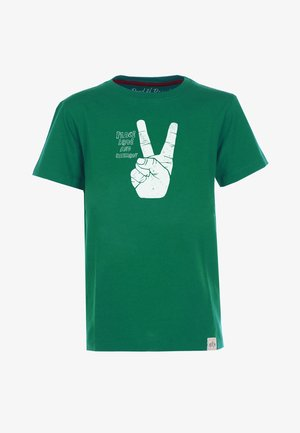 PEACE - Print T-shirt - dark-green