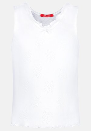 BASIC POINTELLE ROSE - Undertröja - white