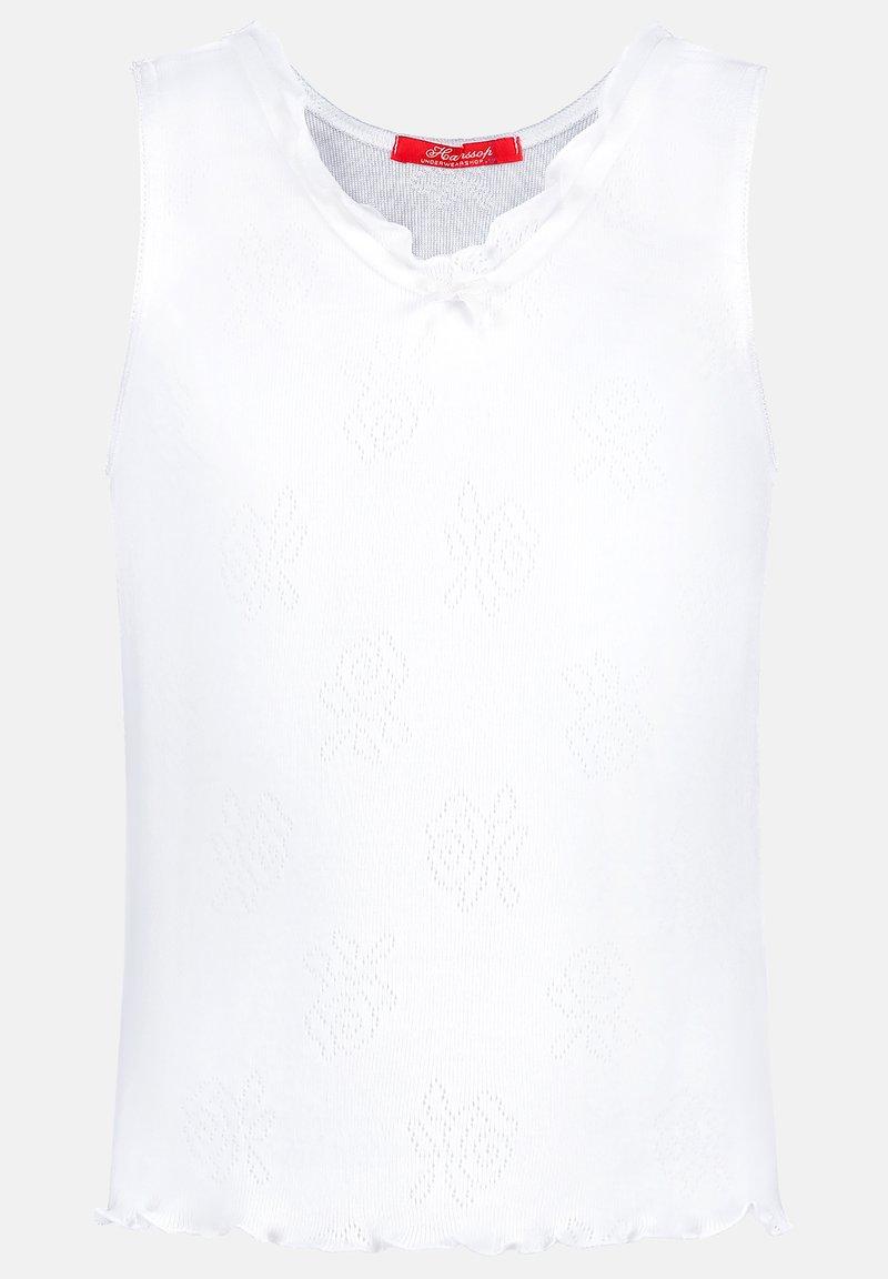 Hanssop - BASIC POINTELLE ROSE - Undershirt - white