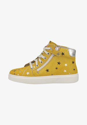 High-top trainers - pinapple/silver