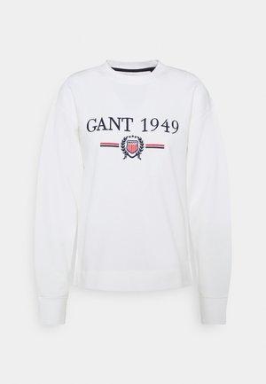 CREST CNECK  - Sweatshirt - eggshell