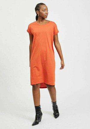 VIDREAMERS KNEE DRESS  - Jersey dress - burnt ochre