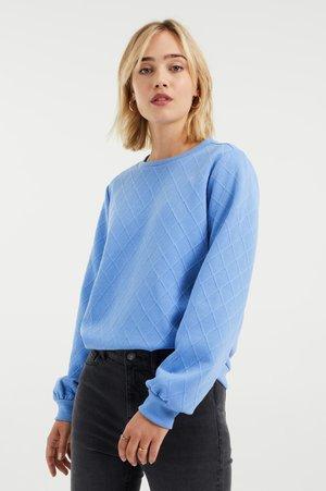 MET STRUCTUUR - Sweater - light blue