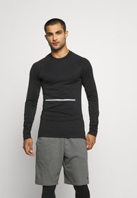 NU-IN - COMPRESSION LONG SLEEVE - Long sleeved top - black - 0
