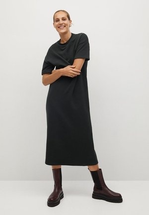 MAD-A - Jersey dress - gris anthracite