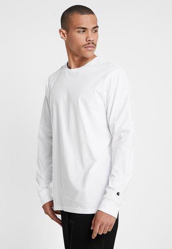 BASE - Long sleeved top - white/black