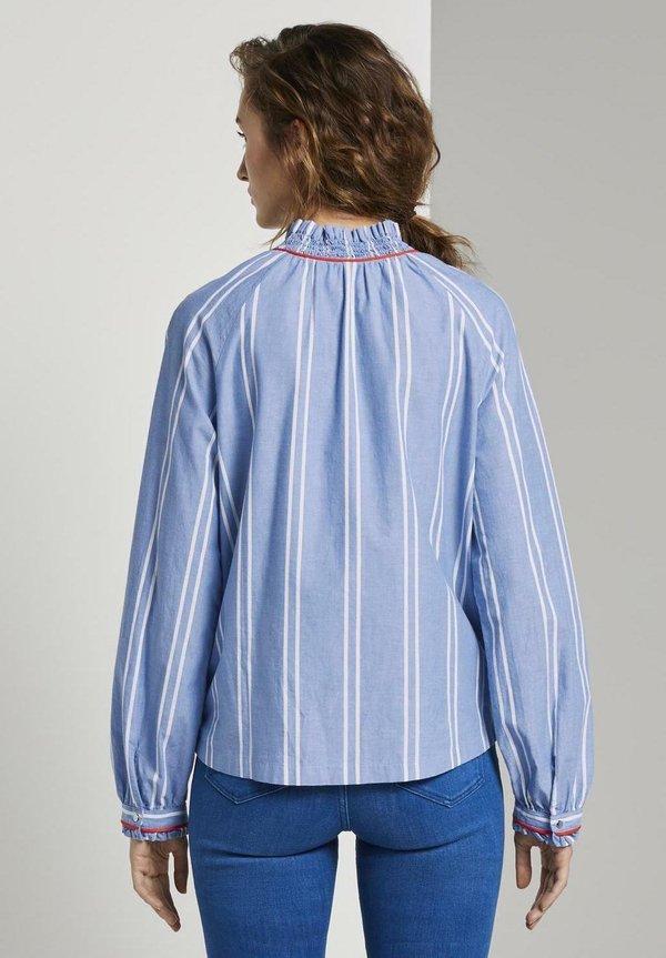 TOM TAILOR DENIM MIT VERSPIELTEN DETAILS - Koszula - blue/white/niebieski RMVC