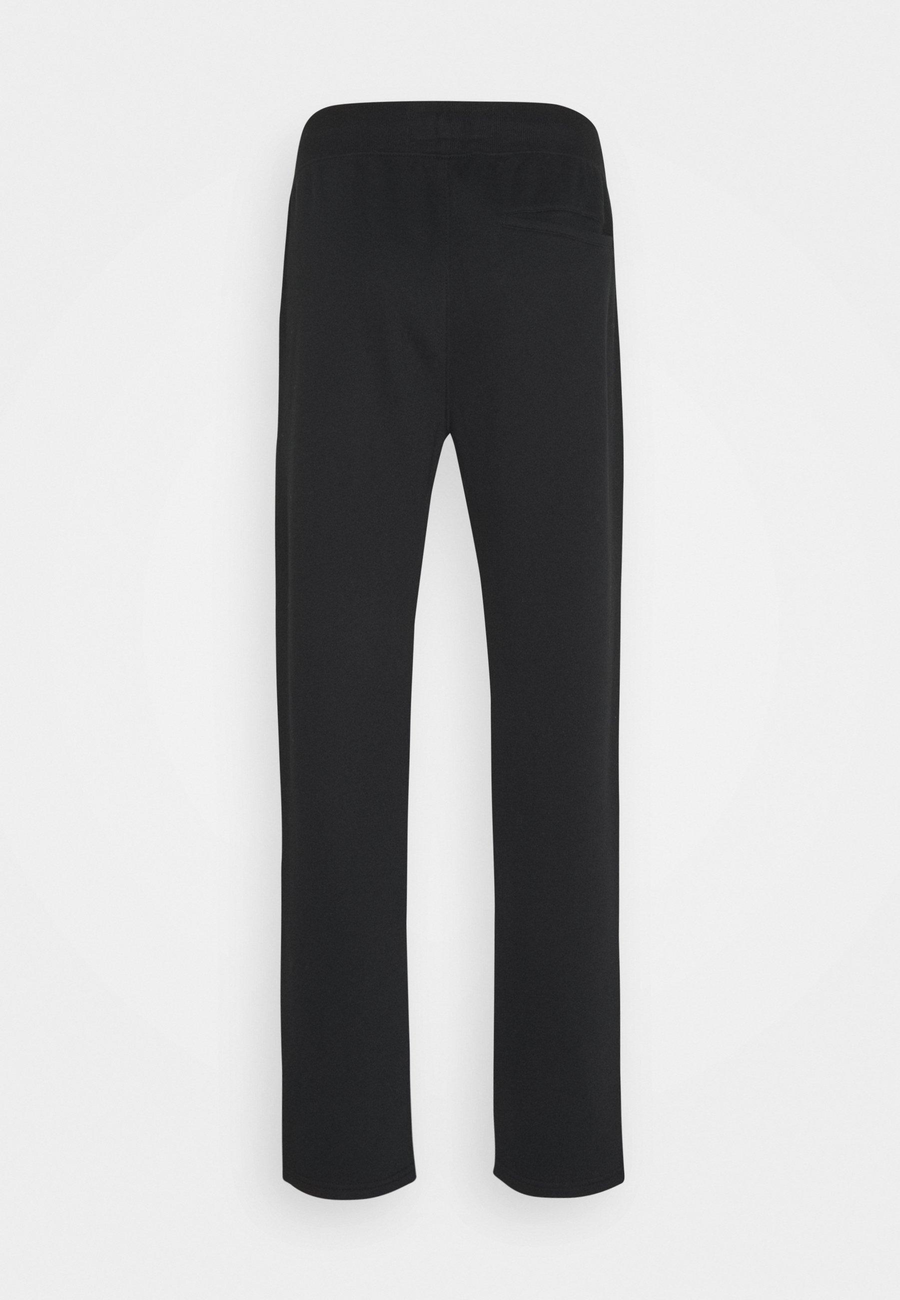 Abercrombie & Fitch HERITAGE CINCHED HEM  - Pantalon de survêtement - black