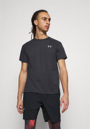 STREAKER - T-shirt med print - black