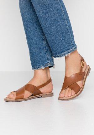 JESSICA - Sandals - cognac
