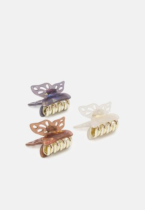 PCFLYING HAIRSHARKS 3 PACK - Hair styling accessory - eggnog/chocolate plum