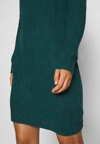 Even&Odd - Strikket kjole - dark green - 5