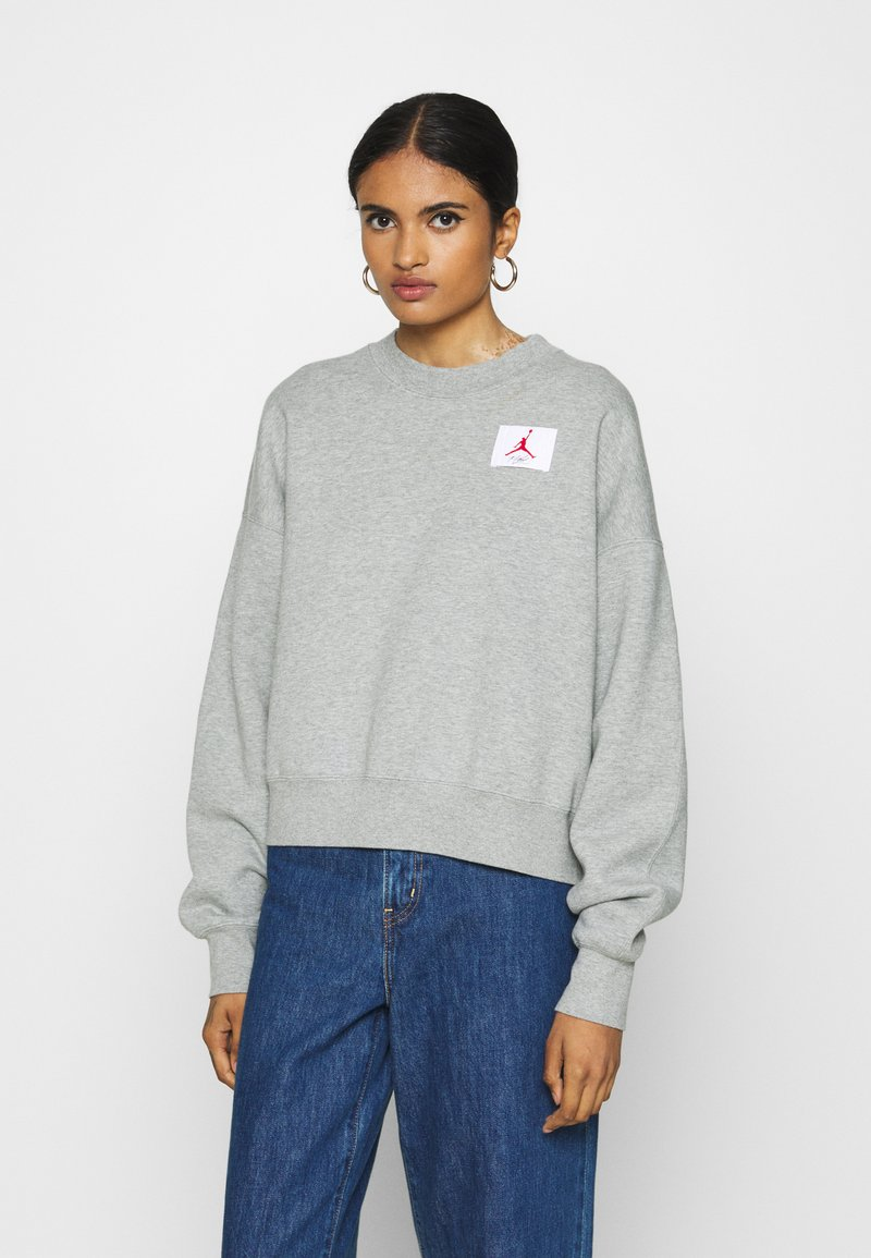 Jordan - FLIGHT CREW - Sweatshirt - grey heather