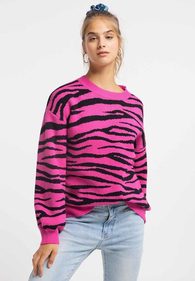 Jersey de punto - pink/black