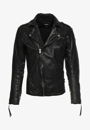 ELON - Leather jacket - black