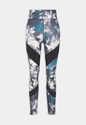 Tights - light blue/multi-coloured