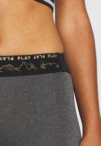 ONLY Play - ONPJYNX TRAINING - Leggings - dark grey melange/black/white gold - 5
