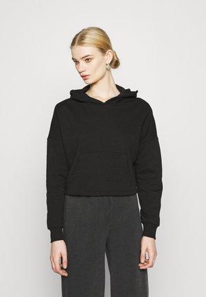 ONYFAVE LIFE CROPPED HOOD - Sweatshirt - black