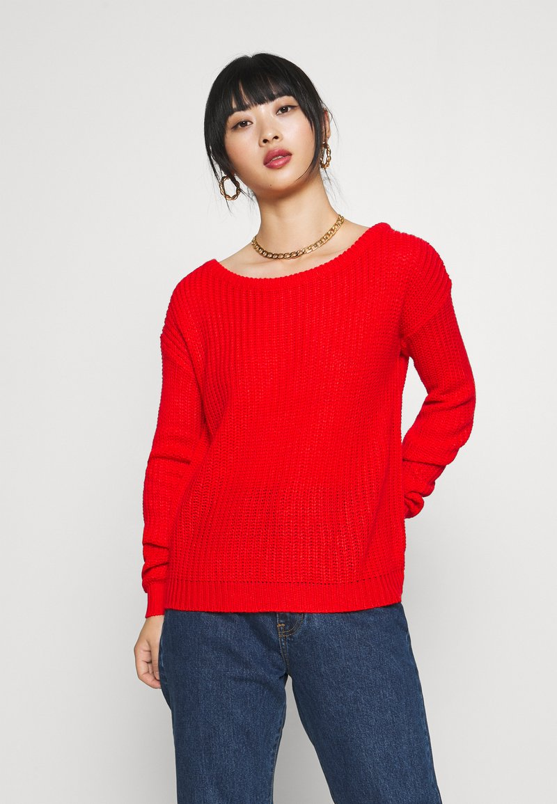 Missguided Petite - OPHELITA OFF SHOULDER - Jumper - red