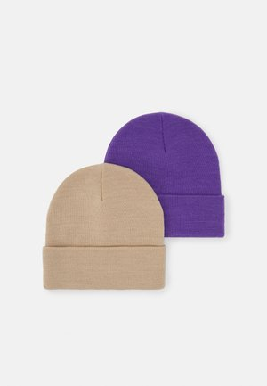 RUBY HAT 2 PACK - Beanie - lilac/ecru