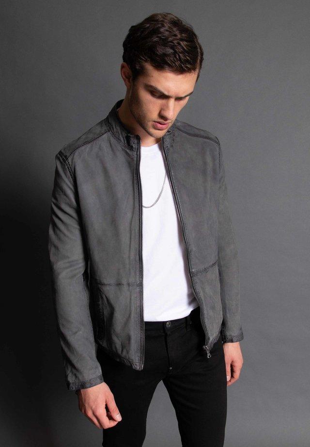 Leather jacket - grey used