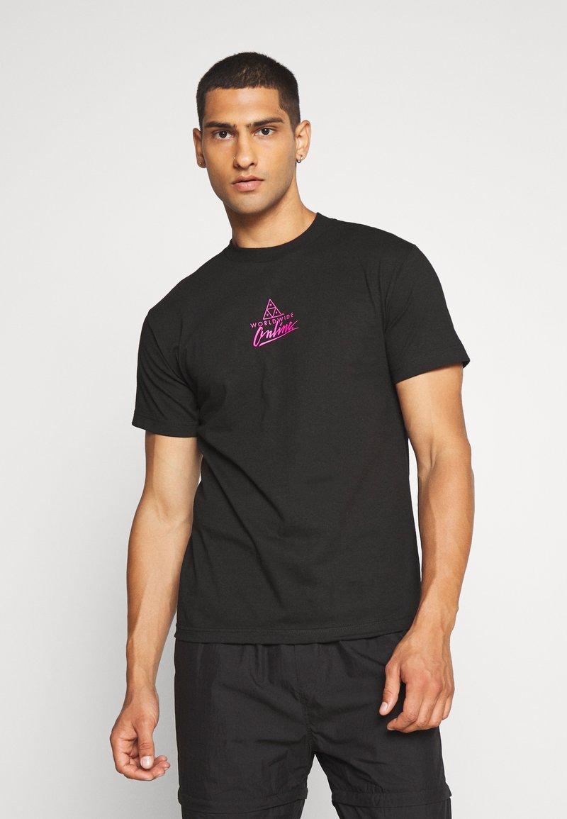 HUF - FORBIDDEN DOMAIN TEE - Print T-shirt - black