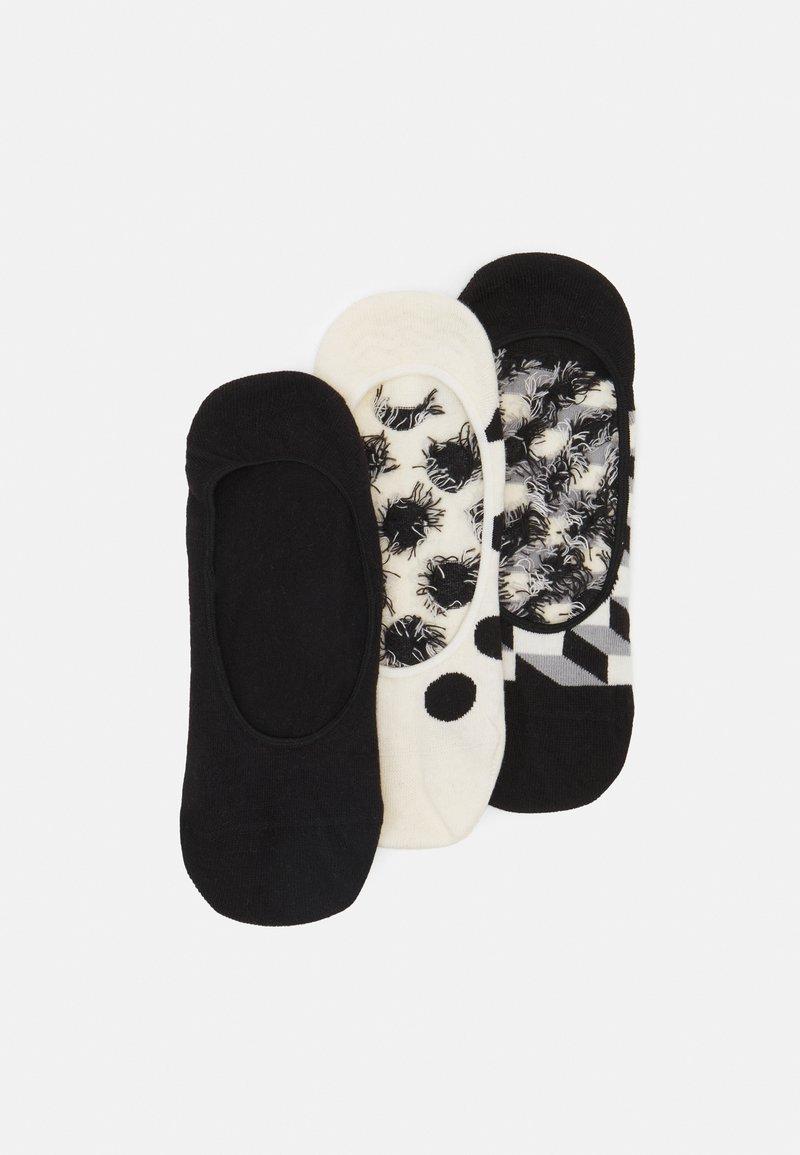 Happy Socks - FILLED DOT LINER SOCK 3 PACK UNISEX - Sukat - black/white
