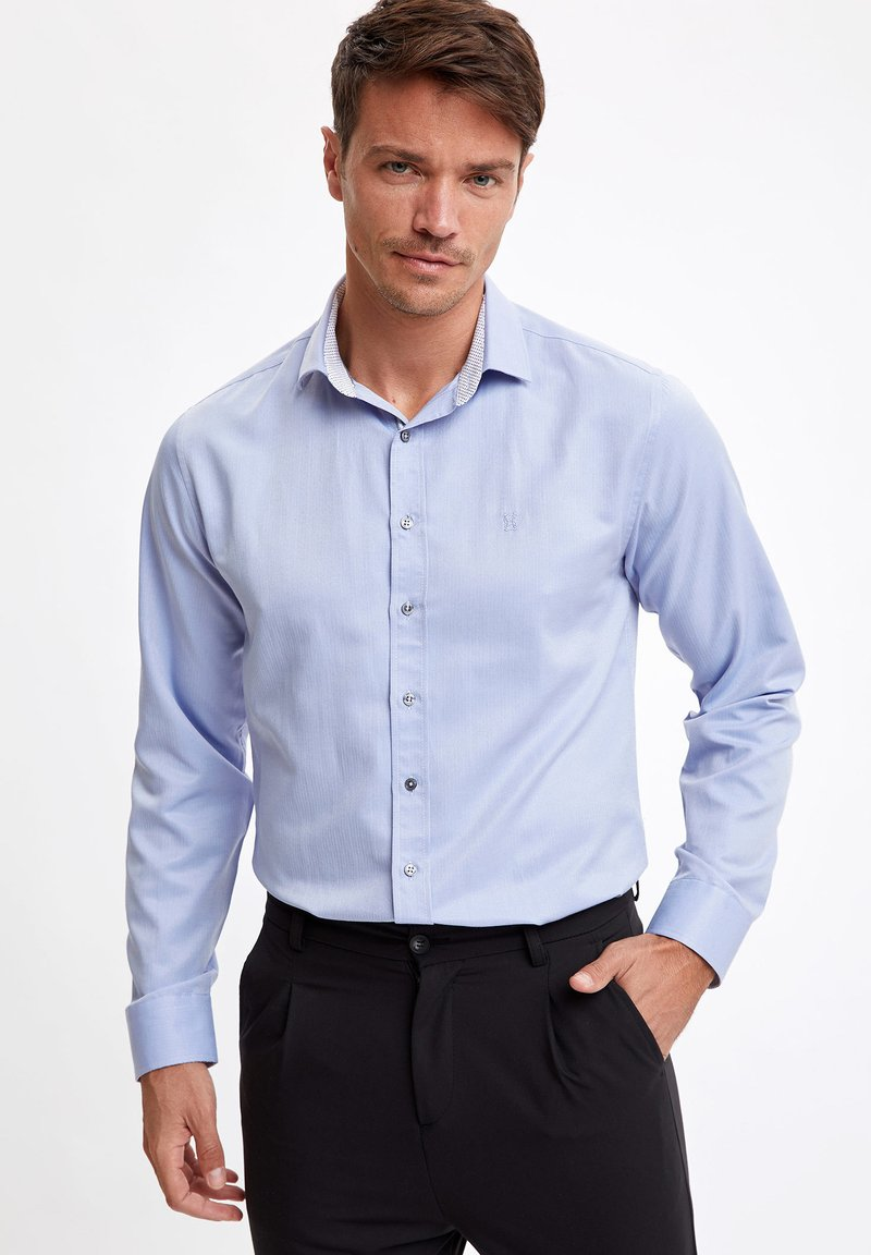 DeFacto - Formal shirt - blue