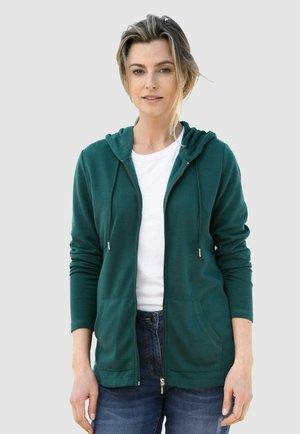 Zip-up sweatshirt - tannengrün