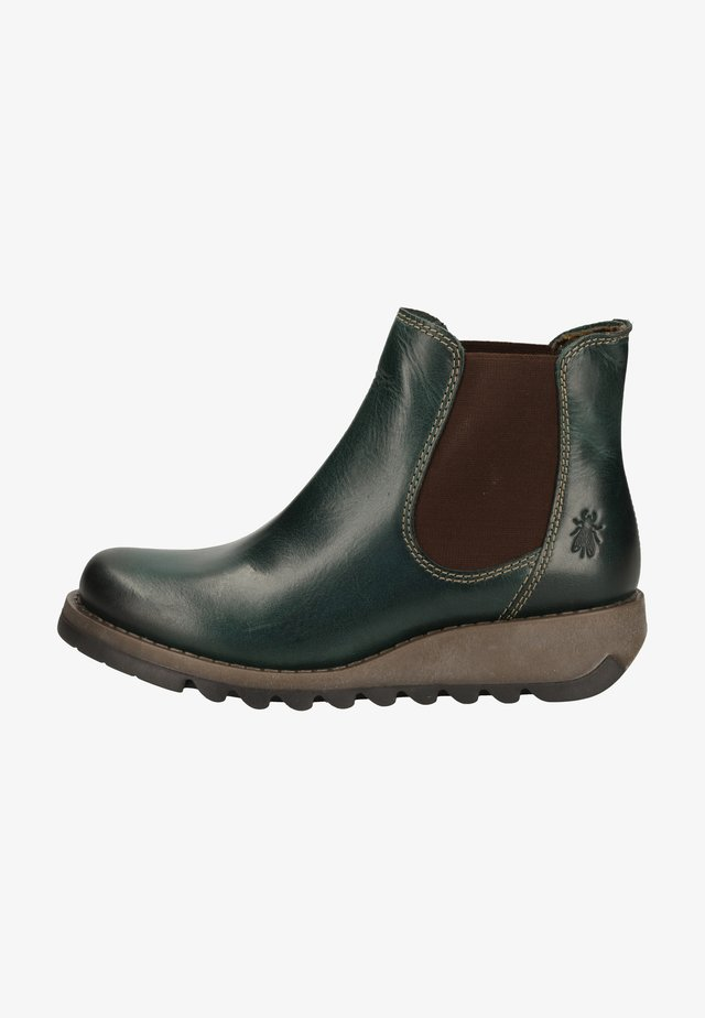 Wedge Ankle Boots - petrol