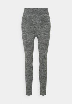 High waist ribbed seamless leggings - Legging - mottled dark grey