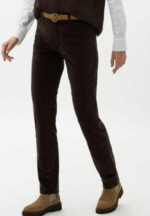 CAROLA - Trousers - espresso
